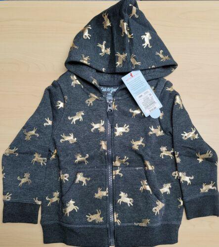 Cat /& Jack Unicorn Zip-Up Hoodie Sweater Size 18M