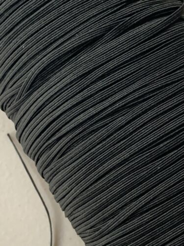 """stretch band trim knit 5yards 1//8/"""" 3mm Black Elastic SHIPPED FROM TEXAS"""