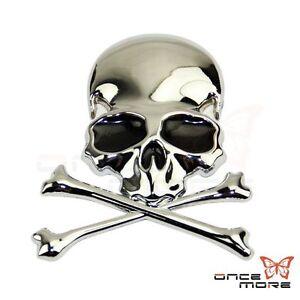 3D-Alloy-Flag-Skull-Cross-Bone-Car-Trunk-Motorcycle-Emblem-Badge-Decal-Sticker