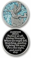 Guardian Angel Pocket Token - 1.25 Metal Coin - Inspirational Gift - Protect -y on Sale