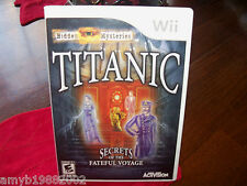 Hidden Mysteries: Titanic  (Wii, 2009) EUC