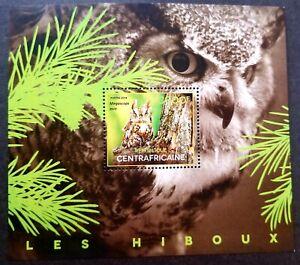 [SJ] Central Africa Bird Of Prey Owls 2014 Fauna Wildlife (ms) MNH