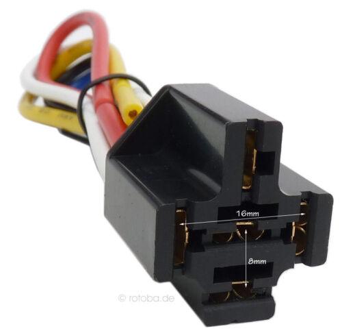 Auto Relais Sockel KFZ Relais-Fassung Relay Socket #393
