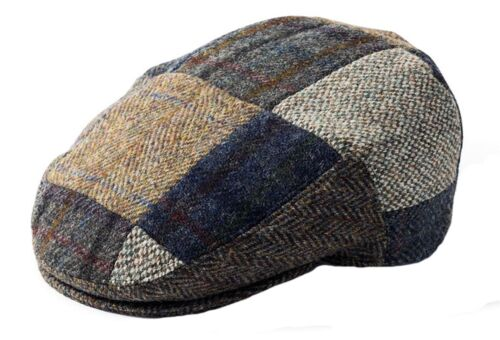 Failsworth Harris Tweed Patchwork Berretto Piatto