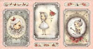 CLEARANCE-Quilting-Treasures-Pre-cut-Panel-Mirabelle-La-Vie-En-Rose-by-Santoro