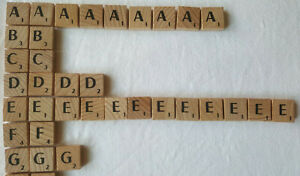 Scrabble Deluxe Original Wooden A - Z Letter Tiles Choose Your Exact Tile in Pic
