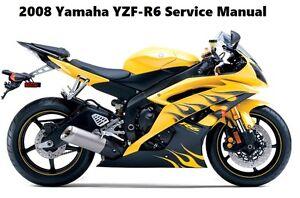 yamaha yzf r6 r6 yzfr600 service maintenance repair manual 2008 free rh ebay com 2006 yamaha yzf r6 service manual 2004 Yamaha R6