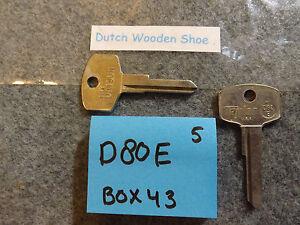 Key Blank fits Vintage Datsun Nissan Subaru 70/'s 80/'s See Code Series DA23