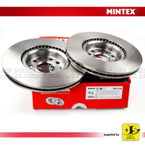 2X MINTEX FRONT BRAKE DISCS MDC1706 AUDI A1 A3 Q2 Q3 TT SEAT SKODA VW GENUINE