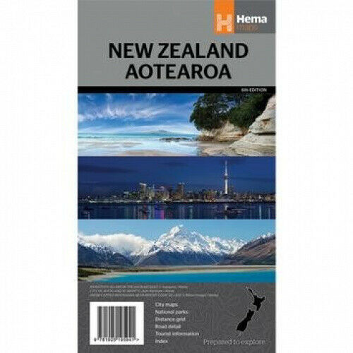 New Zealand Aotearoa 1 : 1 600 000 by Hema Maps.