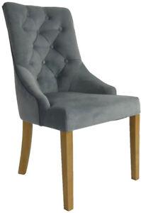 Perfekt Das Bild Wird Geladen Stuhl Polsterstuhl Esszimmer Sessel  Madam Chesterfield Grau Handgefertigt