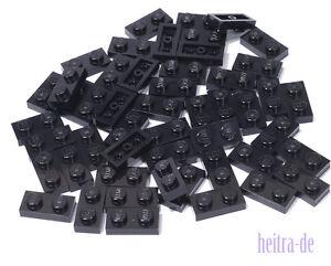 LEGO-50-x-Basic-Platte-1x2-schwarz-Black-Plate-1-x-2-3023-NEUWARE