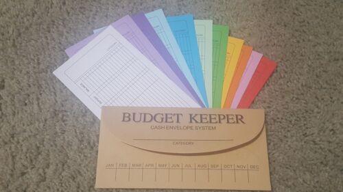 10 Pack Budgeting Cash Envelopes System Budget Planner Assorted Colors Money A1