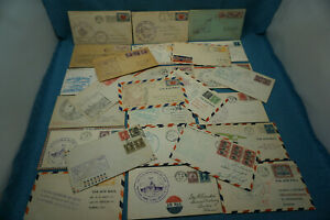 1930-039-s-Air-Mail-Regular-Stamp-FDC-Commemorative-Cachet-Mixed-Lot-26-US