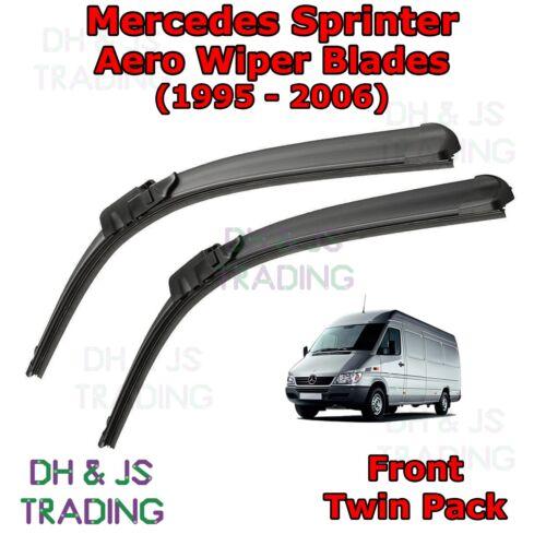 Mercedes Benz Sprinter Aero Wiper Blades Front Flat Wipers Merc Van 95-06