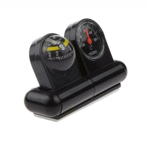 2 In1 Removable Car Compass Thermometer Adhesive Van Truck Vehicle Direction
