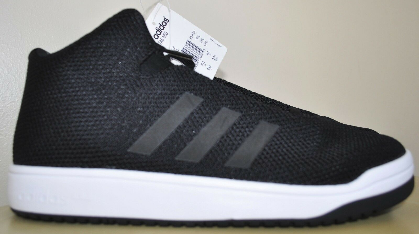 new style ca270 b2c41 cheap Adidas Originals Veritas Mid Top Black with White Woven Mesh Mens  Size 9 US