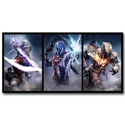 Destiny Game Art Silk Fabric Poster Pictures 13x26 inches HUNTER