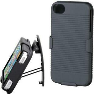 HARD-SHELL-COMBO-CASE-SHOCK-PROOF-CARRYING-HOLSTER-SWIVEL-W3M-for-IPHONE-5-5S