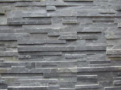 Sonstige Stetig Musterstück Ca.15x30cm Der Naturstein Fassade Riemchen Anthrazit Verblender Schiefer Feine Verarbeitung