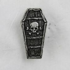 Biker Chopper Motorrad Coffin Skull Totenkopf Sarg Pin Anstecker Anstecknadel