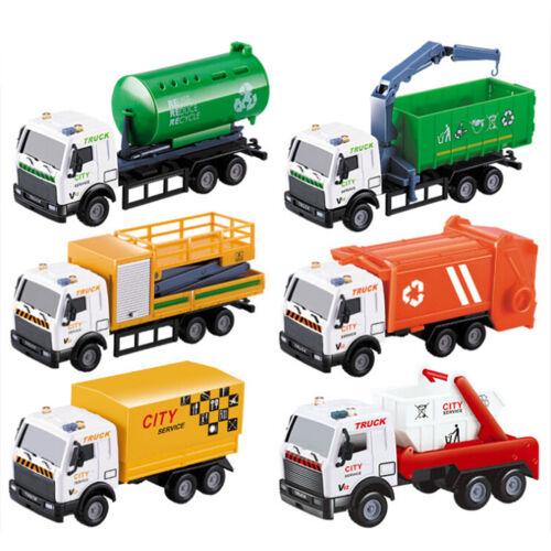 Newest 1:43 Racing Bicycle Truck Toy Carrier Vehicle Garbage Truck Diecasts N HK