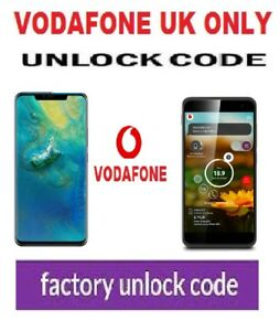 Huawei P9 Plus Unlock Codes Vodafone UK only