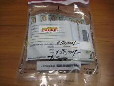 $50,000 US Dollars Cash in Sealed CASINO Security Bag Prop Movie Fake Money New