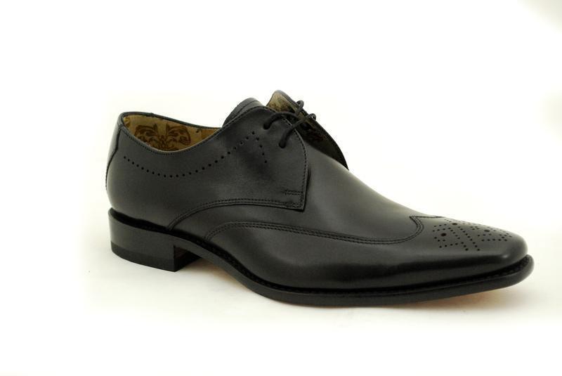 Loake rahmengenähte premium zapatos caballero 5 Eye Stitch Black
