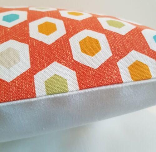 "14/"" 16/"" 18/"" 20/"" New Cushion Cover Mango Orange Geometric Print Handmade"