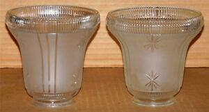 Details About Vintage Art Deco Glass Lamp Shades Sconce Chandelier Replacement Shades Pair