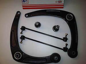 Peugeot-307-2-x-NEU-unteren-Querlenker-Verbindung-Leisten-X2-amp-Kugelgelenke