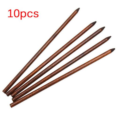 10x Traditionelle geschnitzte Ebenholz Holz Haarnadel Stick Original Retro ML