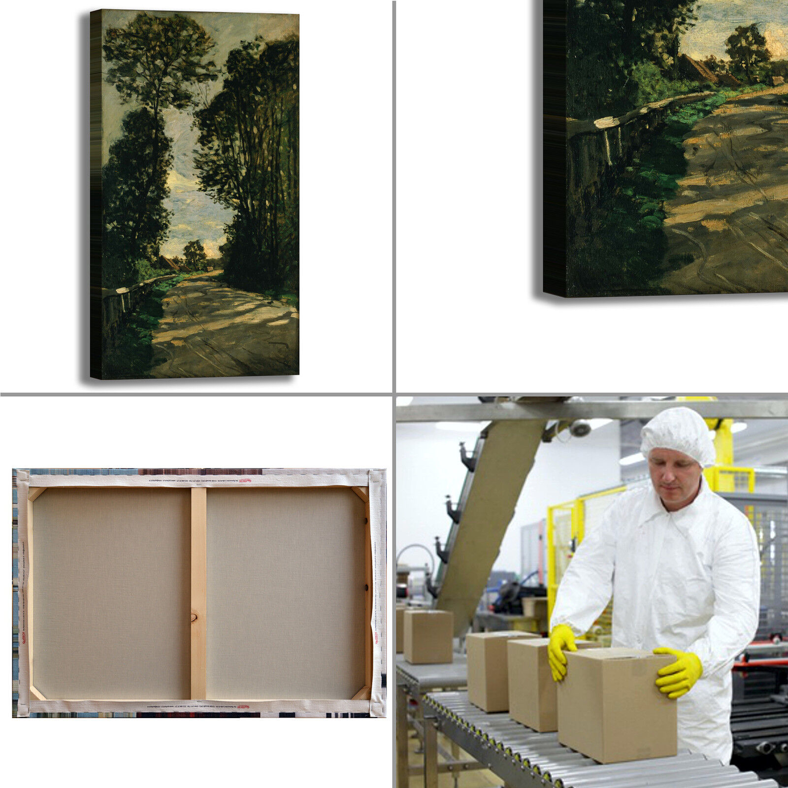 Monet passeggiata design quadro stampa tela dipinto telaio arrossoo casa casa casa 3b723e