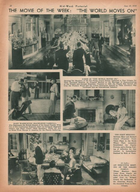 Image result for The World Moves On 1934
