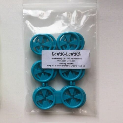 4 Doubles Pack Loc A Sok Colored Sock-Lock Mixed Laundry Organiser 16 Singles
