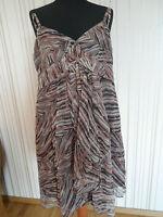 Neu Esprit Kleid Etuikleid Seidenkleid Damenkleid Minikleid Mehrfarbig Gr: 36