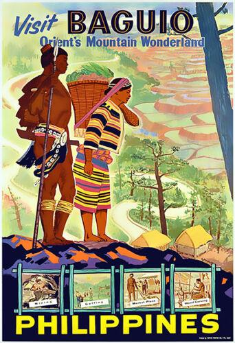 Orient/'s Mountain Wonderland Visit Baguio Philippines Travel Poster