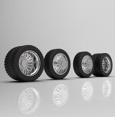 1 24 Evo 26 Inch Dually Truck Wheels With Standard Tires Setup 3d Printed Ebay