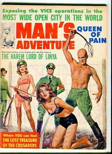 MAN-039-S-ADVENTURE-March-1965-Nazi-whipping-cover
