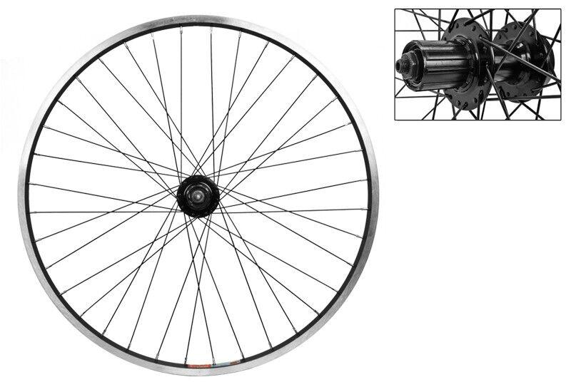 WM Wheel Rear 26x1.5 559x19 Aly Bk Msw 36 aly 8-10scas 6b Qr Bk 135mm 14gbk