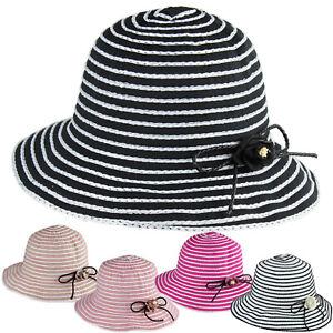 898ada4db09 New Women Summer Bow-Knot Floppy Bucket Hat Sun Visor Wide Brim ...