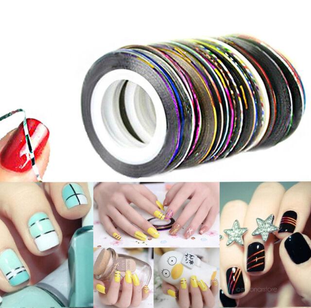 10 Colors Mixed Rolls Striping Tape Line Diy Nail Art Tips