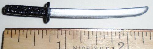 Various Figures BIN A23  G I JOE Accessory  Black and Silver Ninja Long Sword
