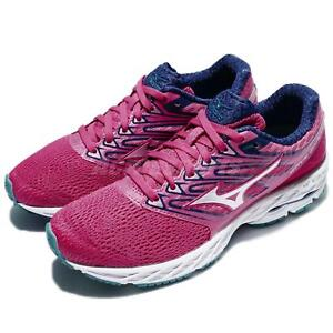 Mizuno-Wave-Shadow-Pink-White-Women-Running-Shoes-Trainers-Sneakers-J1GD17-3003