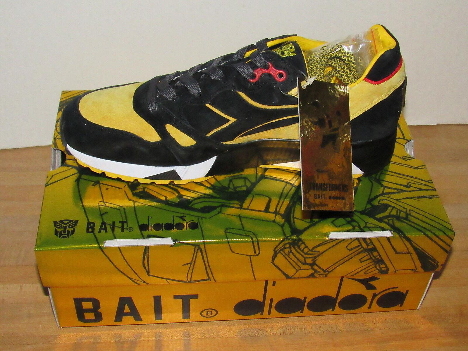 BAIT x Diadora S8000 Transformers Bumblebee Black Sneakers US Size 10 Mens NEW