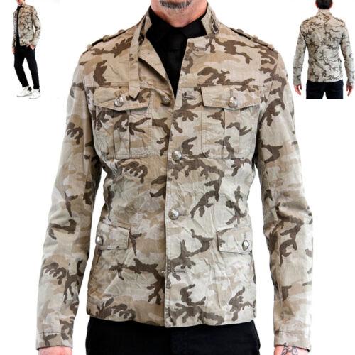 Giacca Mimetica da uomo verde Giubbotto Militare Giubbino Slim Imperial Coreana