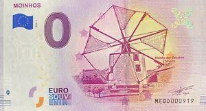 BILLET-0-EURO-MOINHOS-PORTUGAL-2018-N-PALINDROME-919