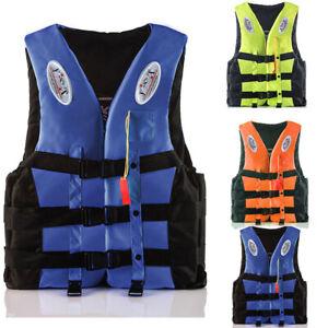 Kids Adult Fishing Kayak Ski Buoyancy Aid Sailing Vest Watersport Life Jacket UK