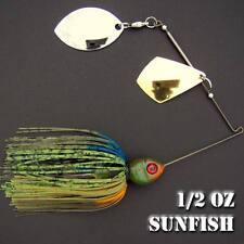 Bassdozer Spinnerbaits.1/2 oz Style F. SUNFISH spinner bait bass fishing lures